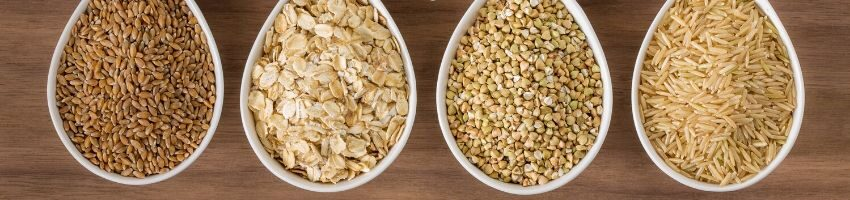 An array of whole-grain cereals that can reduce breast size.