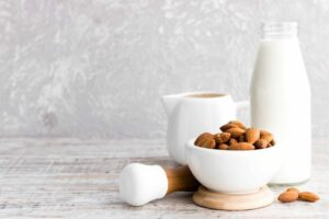 Almond milk which can cause acne