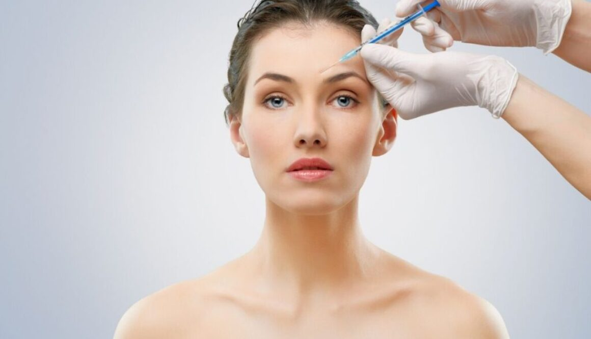 A woman having a botox injection