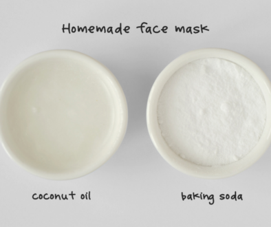 A picture of Baking soda and coconut oil for face mask comparation